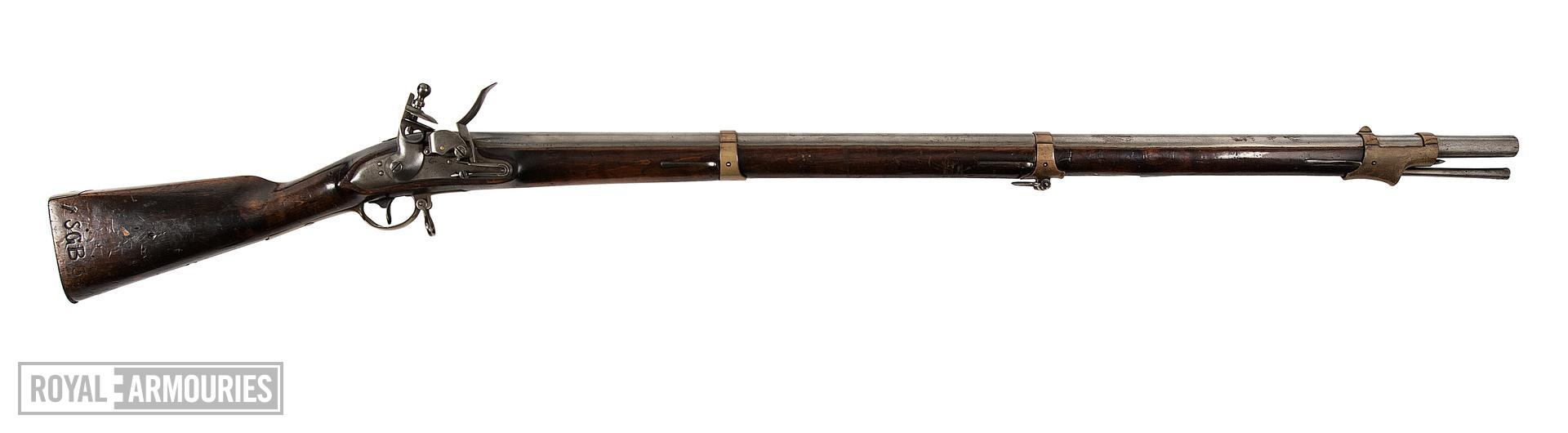 Model 1809  flintlock muzzle-loading military musket, about 1810, German / Prussian (XII.239)