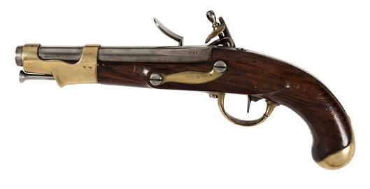Flintlock muzzle-loading pistol