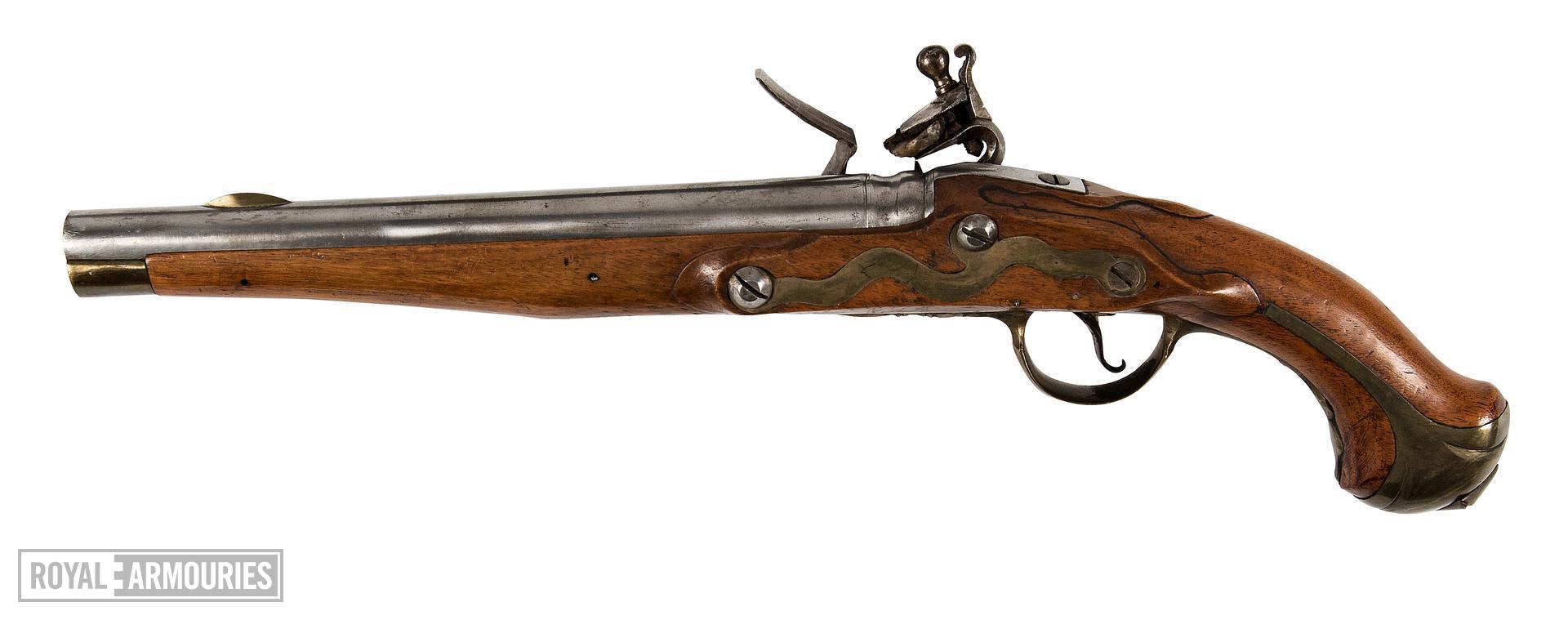 Flintlock muzzle-loading pistol - Model 1789 (conversion) Flintlock muzzle-loading pistol, Model 1789 (conversion), about 1789. .