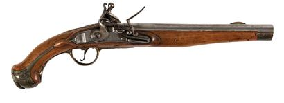 Thumbnail image of Model 1789 flintlock cavalry or Dragoon pistol of Fredrick William II, Prussia, about 1790 (XII.1844)