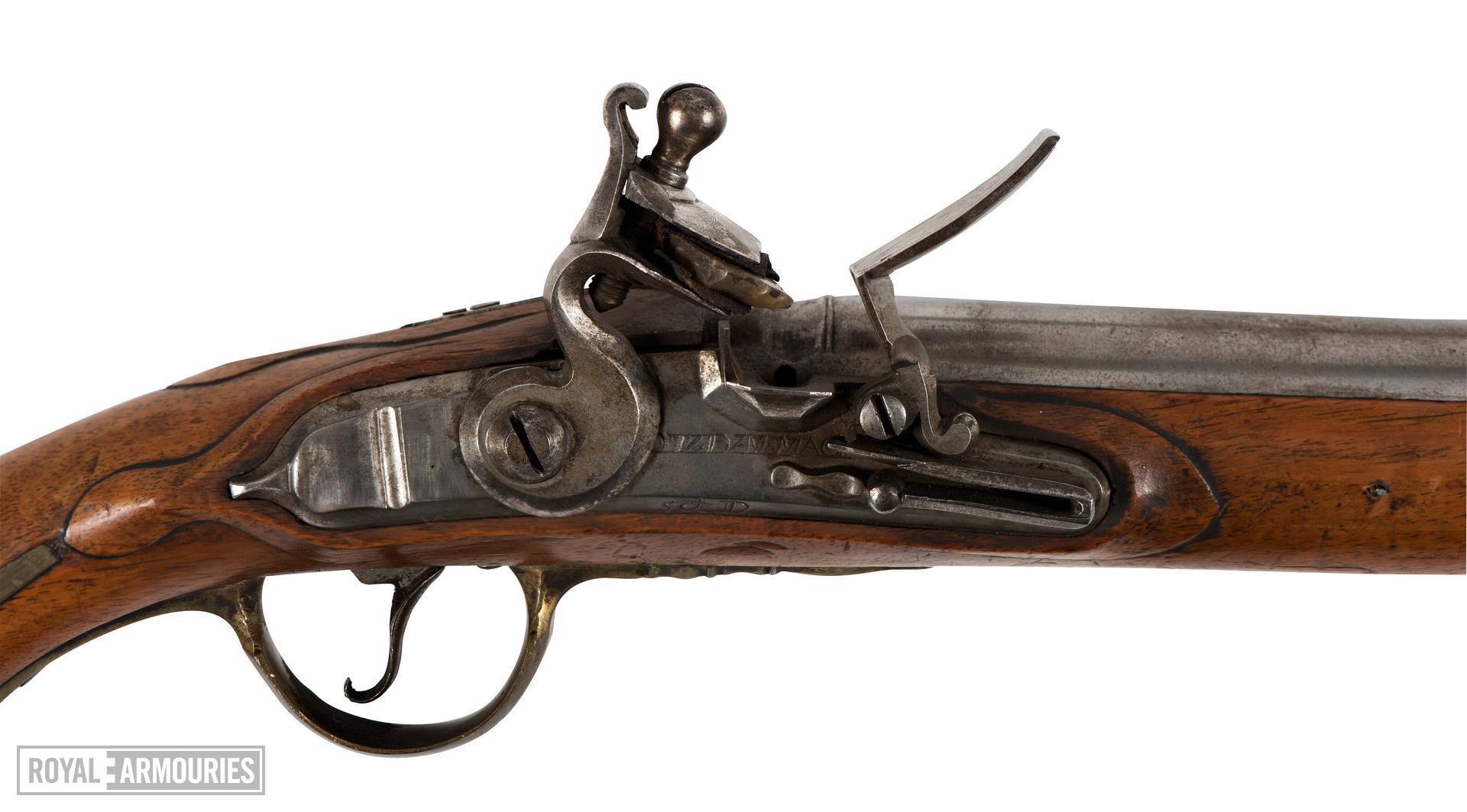 Model 1789 flintlock cavalry or Dragoon pistol of Fredrick William II, Prussia, about 1790 (XII.1844)