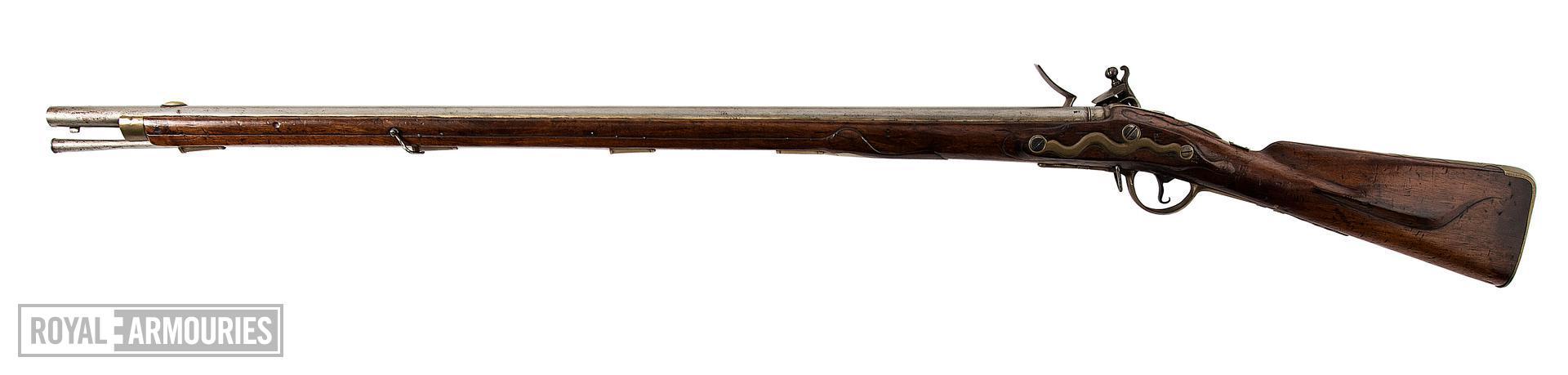 Flintlock muzzle-loading military rifle-musket - Fusillier Model 1787 (Modified in 1796) Flintlock muzzle-loading military rifle-musket, Fusillier Model 1787 (Modified in 1796), about 1790.