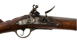 Thumbnail image of Flintlock muzzle-loading military rifle-musket - Fusillier Model 1787 (Modified in 1796) Flintlock muzzle-loading military rifle-musket, Fusillier Model 1787 (Modified in 1796), about 1790.