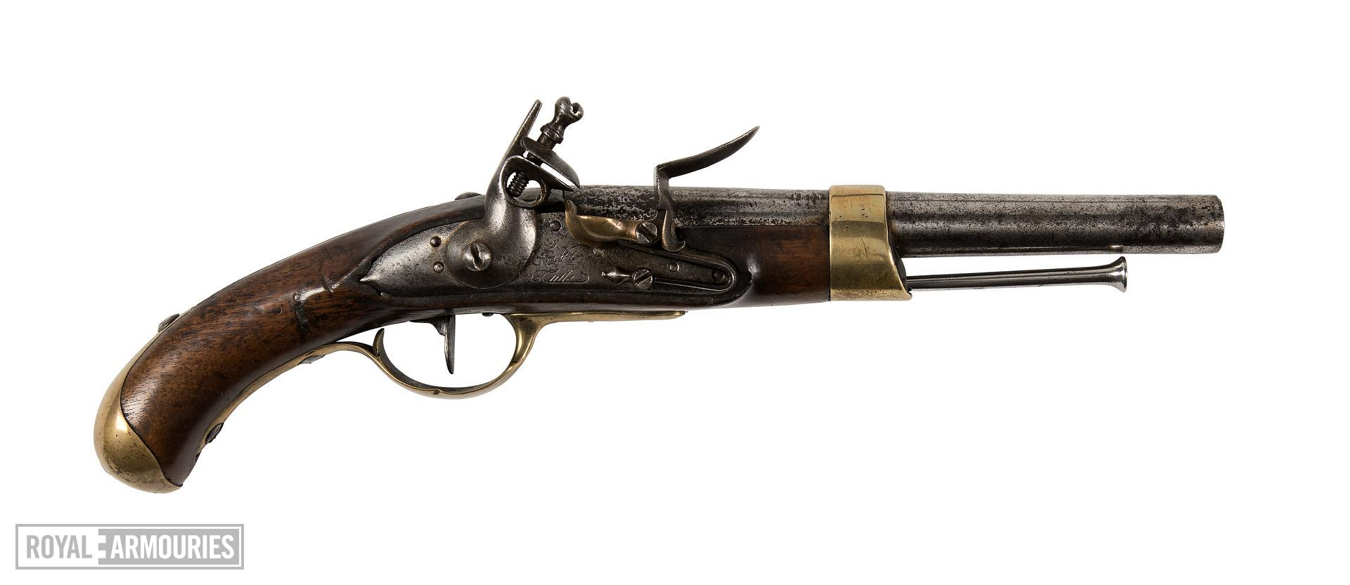 Flintlock muzzle-loading pistol - Model 1786 Marine