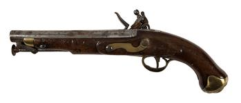 Thumbnail image of Flintlock muzzle-loading military pistol - New Land Pattern Pistol Pattern 1810, bolted lock