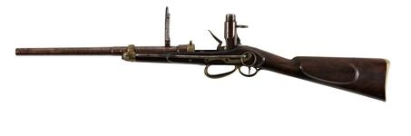 Thumbnail image of Flintlock breech-loading carbine - Sartoris Mk. III Carbine It was originally suggested that this carbine was from about 1810, however these carbines were not produced until 1817.