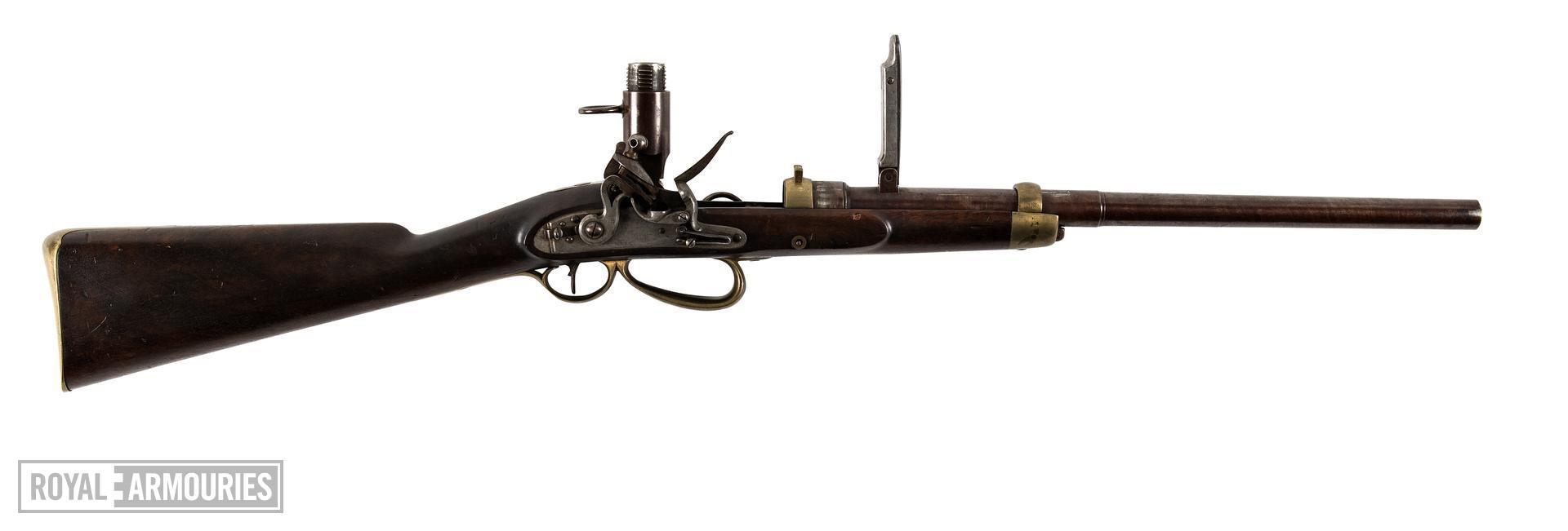 Sartorious flintlock breech-loading Mk. III Carbine, England, about 1810 (XII.5705)