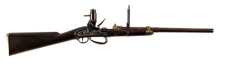 Thumbnail image of Sartorious flintlock breech-loading Mk. III Carbine, England, about 1810 (XII.5705)