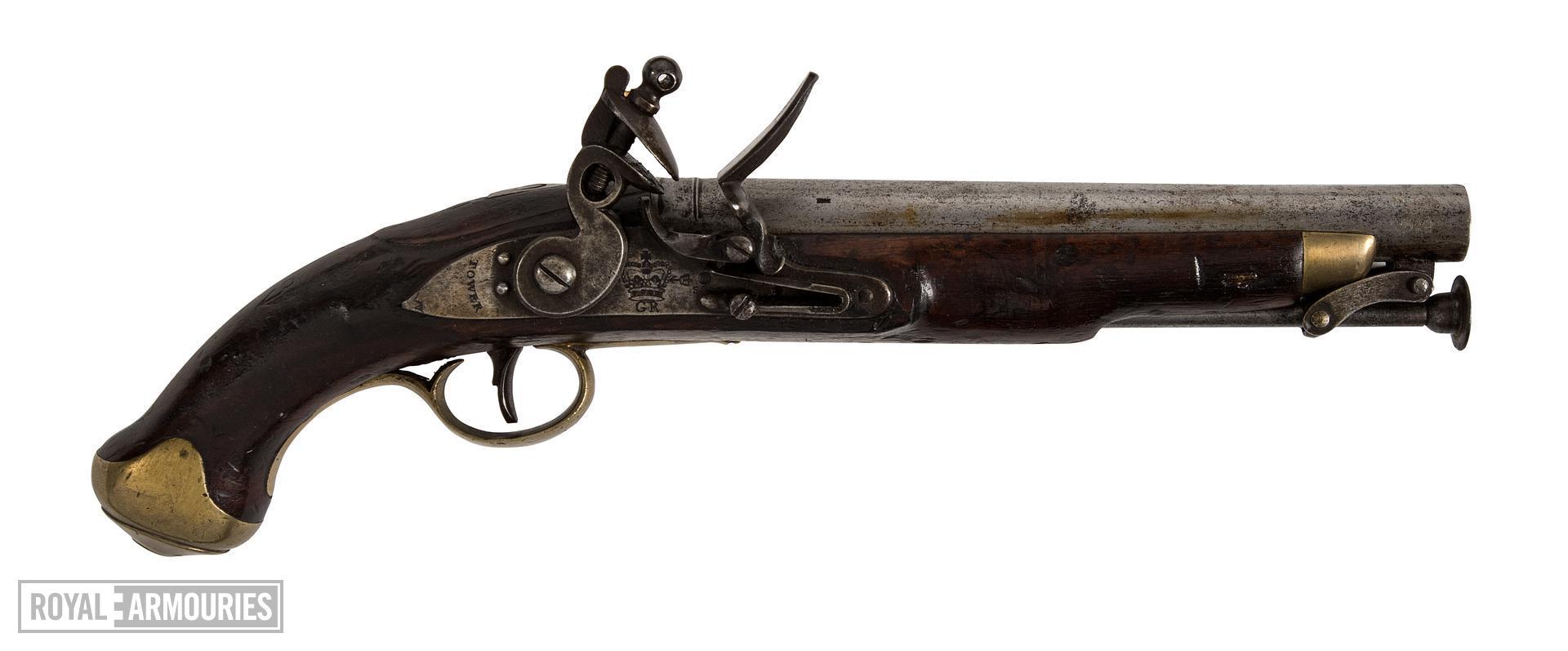 Flintlock muzzle-loading military pistol - Light Dragoon Pistol