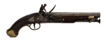 Thumbnail image of Flintlock muzzle-loading military pistol - Light Dragoon Pistol Pattern 1810 with raised pan
