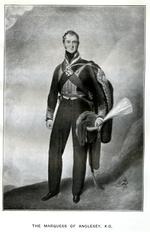 "Thumbnail image of The Marquess of Anglesey, KG. Portrait of Colonel Sir Henry William Paget, 2nd Earl Uxbridge & 1st Marquis Anglesey. From the book by C.R.B. Barrett, ""The Queen's Own Hussars"", vol. 1, (London: Royal Unites Services Institute, 1914), Facing p. 386."