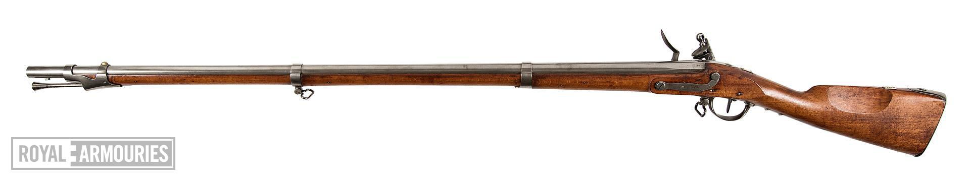 Model 1777/XIII flintlock muzzle-loading military musket, about 1806, France (XII.2233)