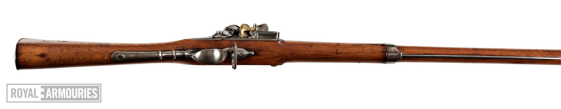 Flintlock muzzle-loading musket - Model 1777 An. IX Dragoon Musket Issued to the Dragoons, Voltigeurs,Artillery, Navy and the National Guard. Occassionally used by the Carabineers and Horse Grenadiers.