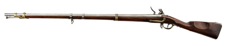 Thumbnail image of Model Year IX Flintlock military carbine for Dragoons, about 1811, France (XII.2658)