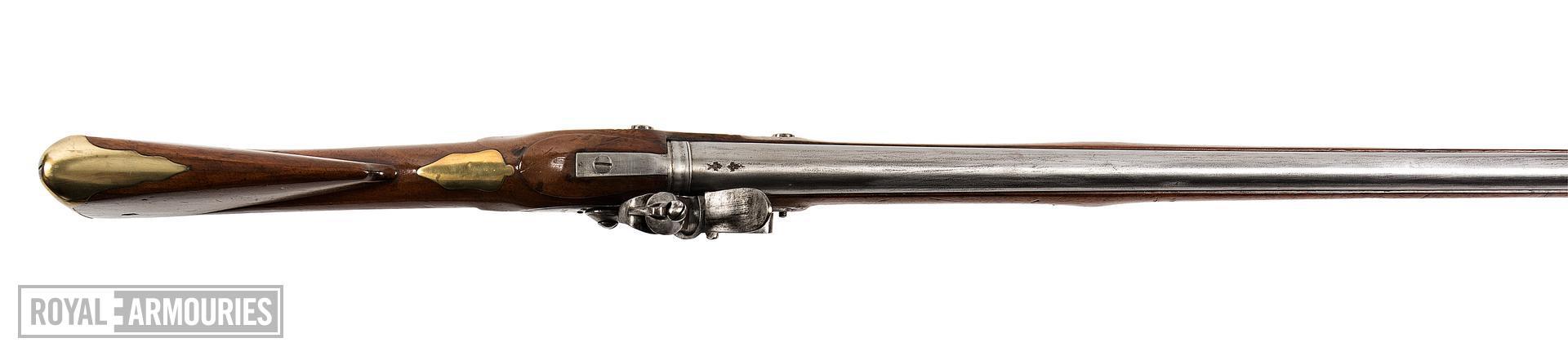Flintlock muzzle-loading military musket - Model 1777 Short Land Pattern