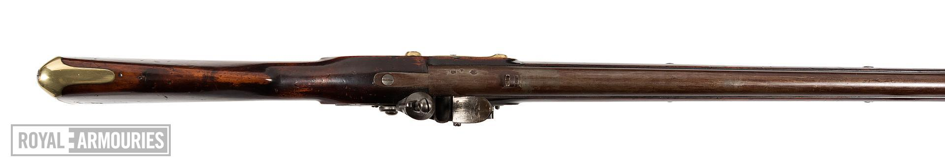 Pattern 1805 New Land type flintlock muzzle-loading military musket, Britain, about 1811 (XII.3101)