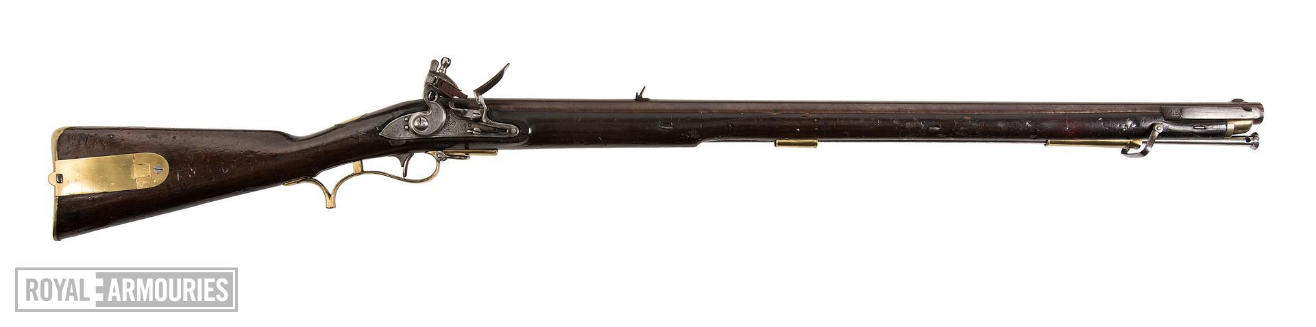 Model 1805 Baker muzzle-loading rifle, Britain, about 1812, by I.Gill (XII.3495)