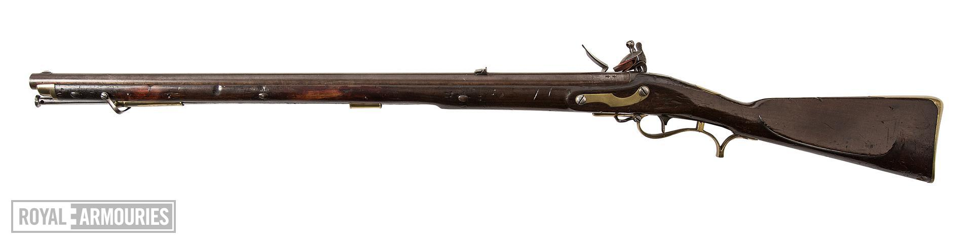 1805 'Baker' muzzle-loading rifle, Britain, about 1812, by I.Gill (XII.3495)