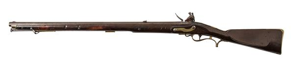 Thumbnail image of 1805 'Baker' muzzle-loading rifle, Britain, about 1812, by I.Gill (XII.3495)