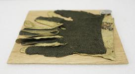 Thumbnail image of Mail gauntlet fragment. Fine mail covering for a duelling glove. III.788