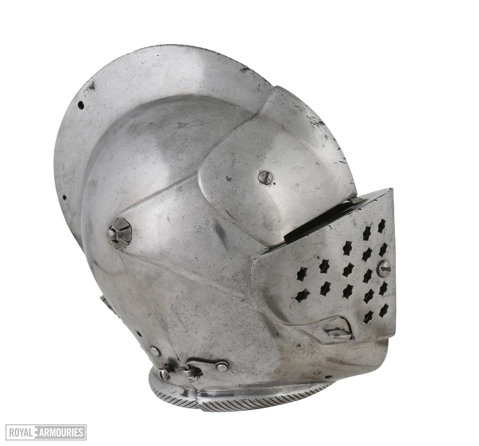 Close helmet for foot tournament IV.745