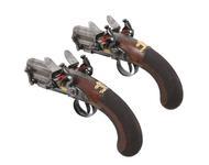 Thumbnail image of Flintlock muzzle-loading double-barrelled pistols by Ezekiel Baker. Made for the Prince Regen. XII.5694 & XII.5695