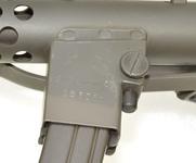 Thumbnail image of Canadian SMG 9 mm C1 markings on upper magazine housing. PR.7598