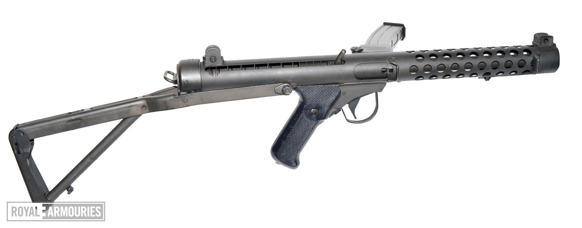 Canadian SMG 9 mm C1 with stock extended. PR.7598