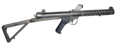 Thumbnail image of Canadian SMG 9 mm C1 with stock extended. PR.7598