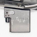 Thumbnail image of Underside of  SMG 9 mm C1 magzine housing showing manufacturings initials PR.7598