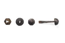 Thumbnail image of Rondel dagger with pommel cap, tang and disk guard X.595 A, B, C, D