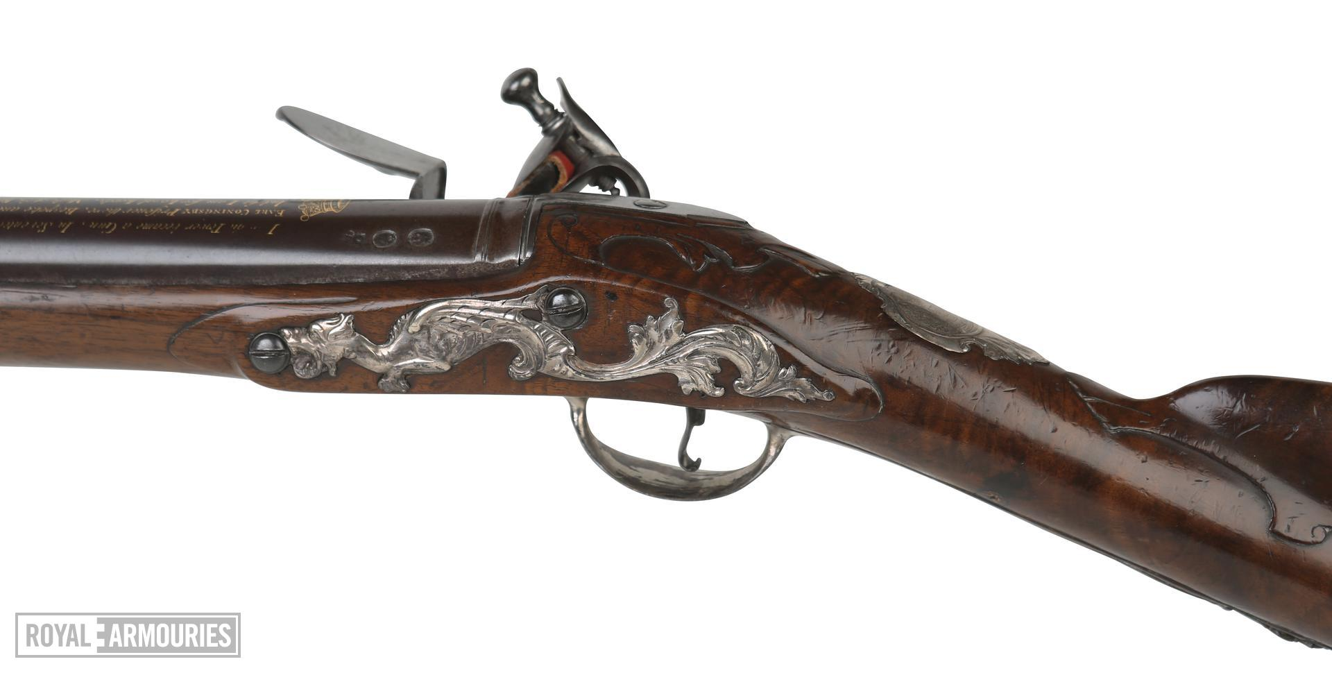 Flintlock sporting gun - By William Mills