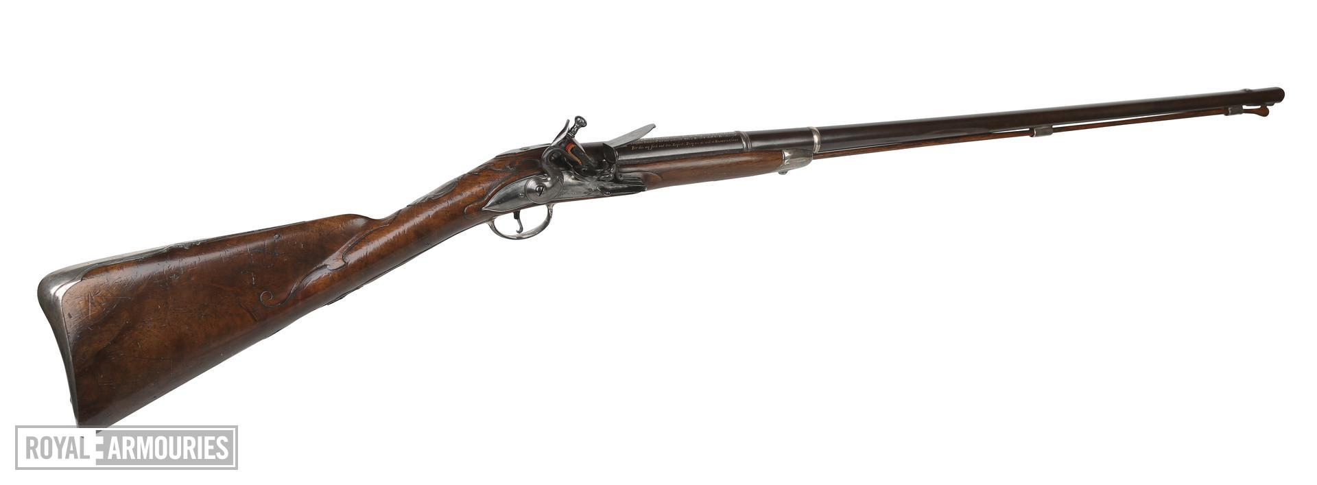 Flintlock sporting gun by William mills made for Thomas, 1st Earl Coningsby. XII.1789
