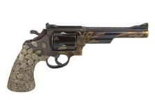 "Thumbnail image of The ""Tiffany Revolver"", based on a Smith & Wesson Model 29, decoration by Tiffany and Co. of New York. American, dated 1989 (XII.9609)"