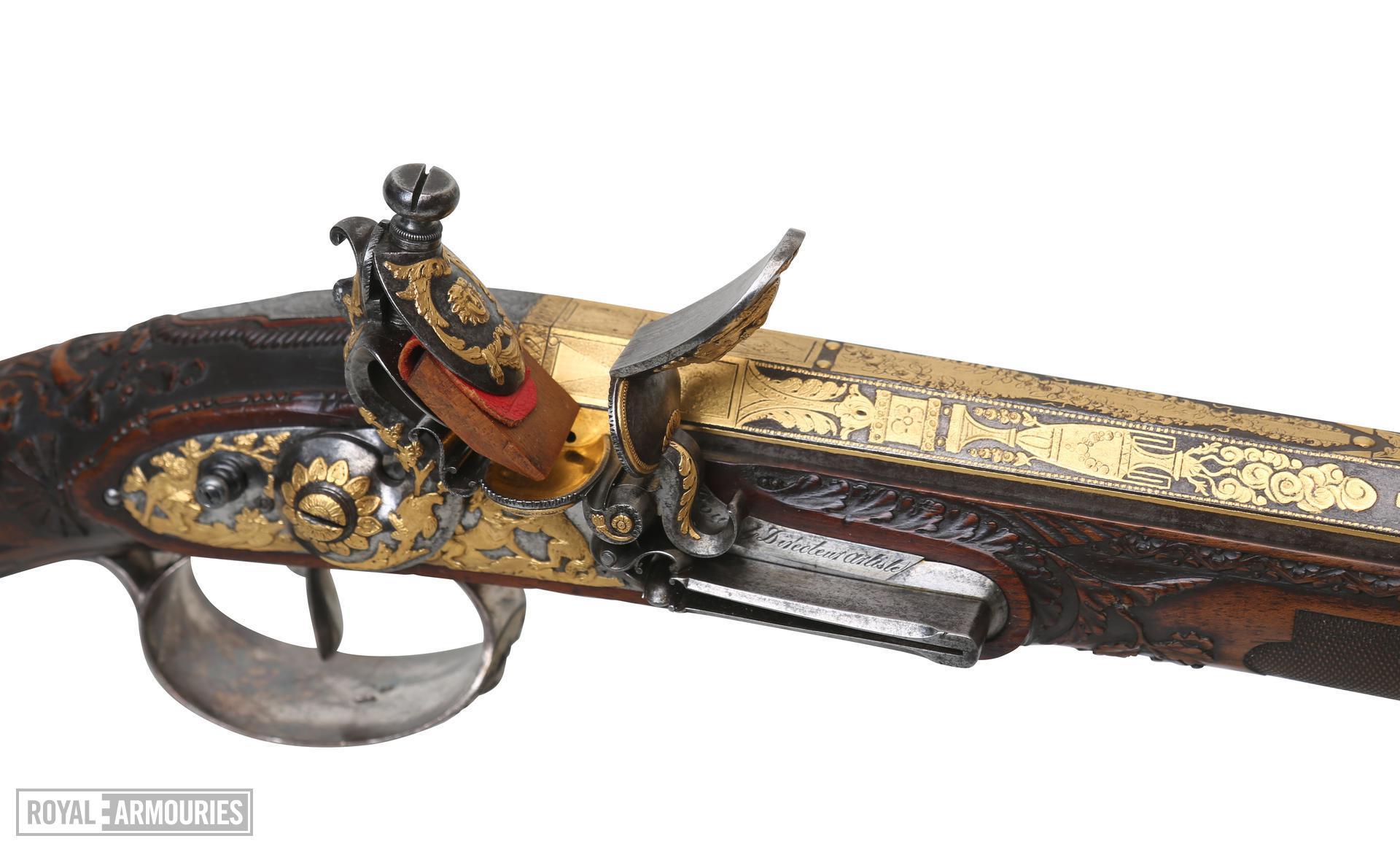 Flintlock muzzle-loading sporting gun - By Nicholas Noel Boutet