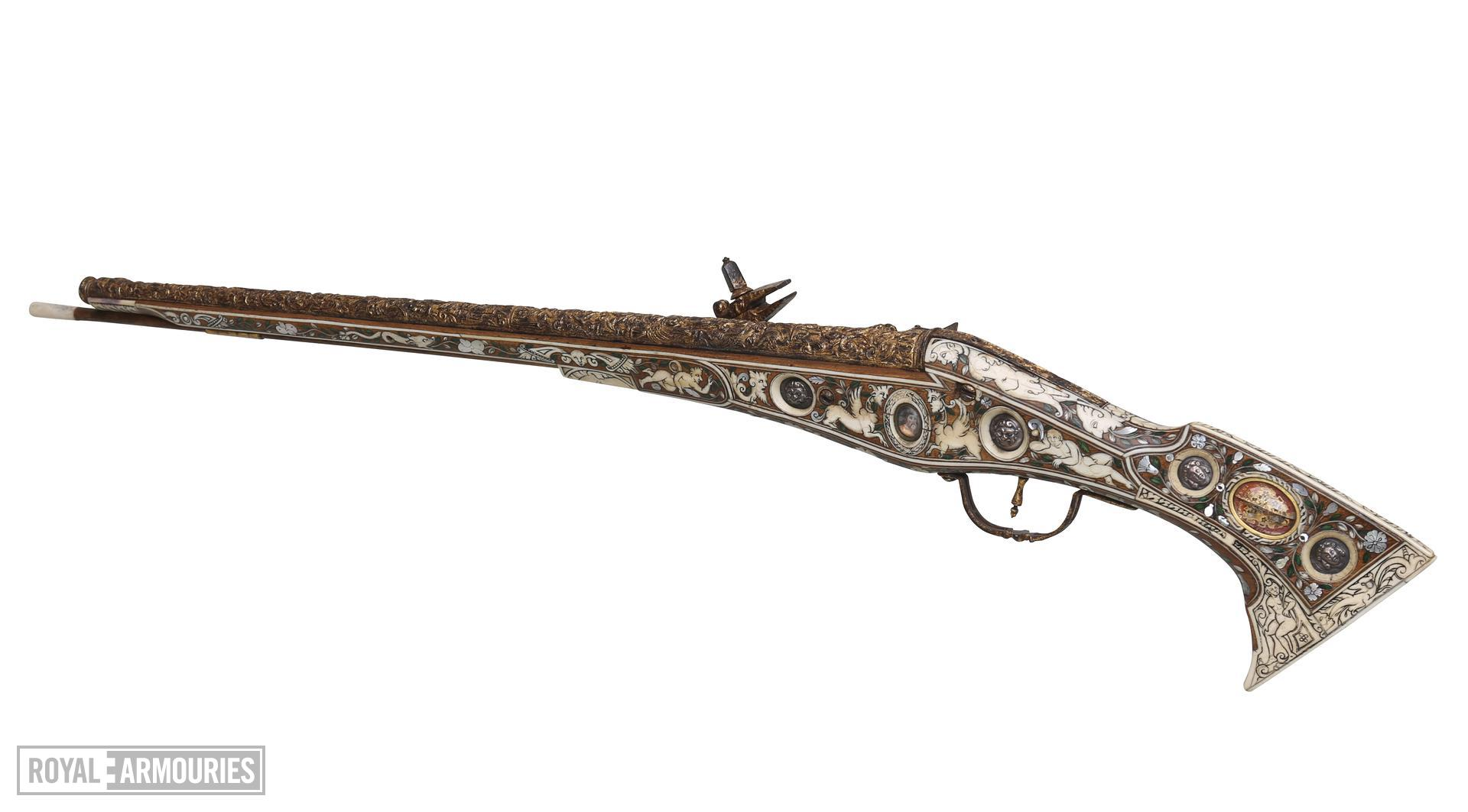 Wheellock pistol known as the 'Forget-me-not' pistol. XII.1764