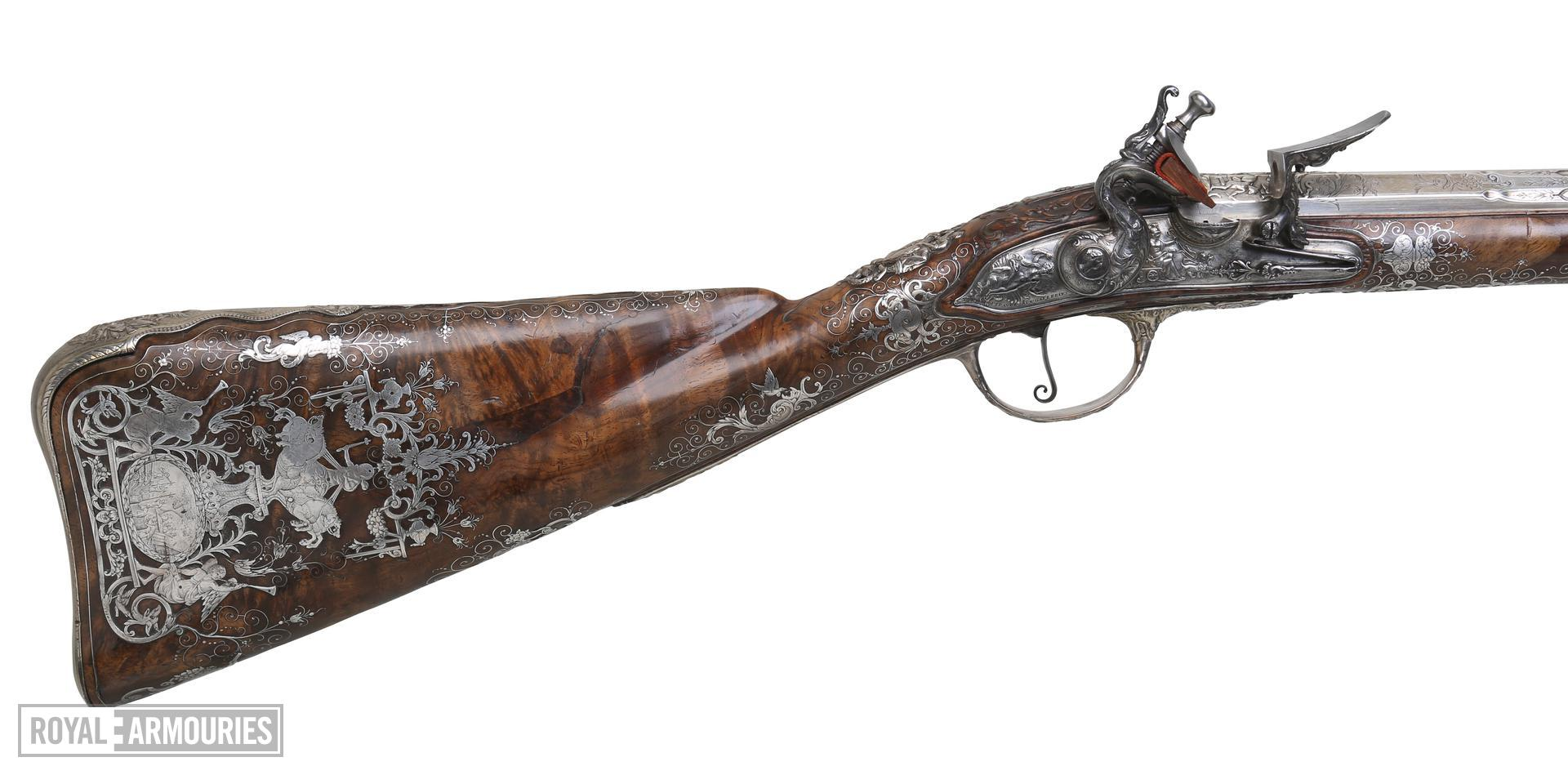 Flintlock muzzle-loading sporting gun - By Bertrand Piraube