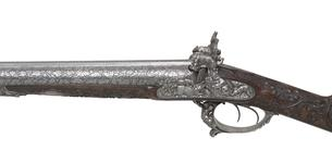 Thumbnail image of Percussion double-barrelled shotgun. LePage-Moutier exhibition gun. XII.4751