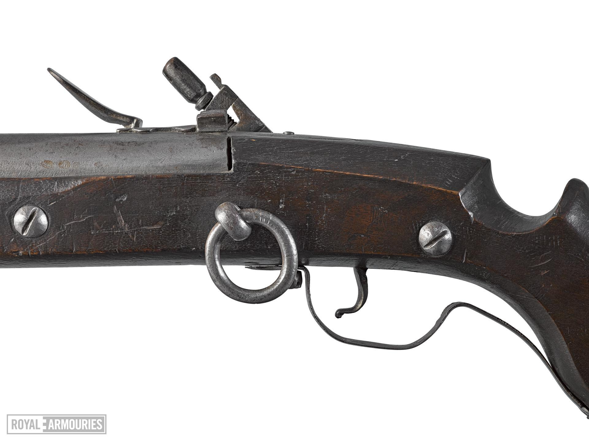 Flintlock muzzle-loading carbine. Littlecote collection. XII.5462