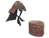 Thumbnail image of Cuirass and helmet (peti) from the arsenal of Tipu Sultan. XXVIA.139