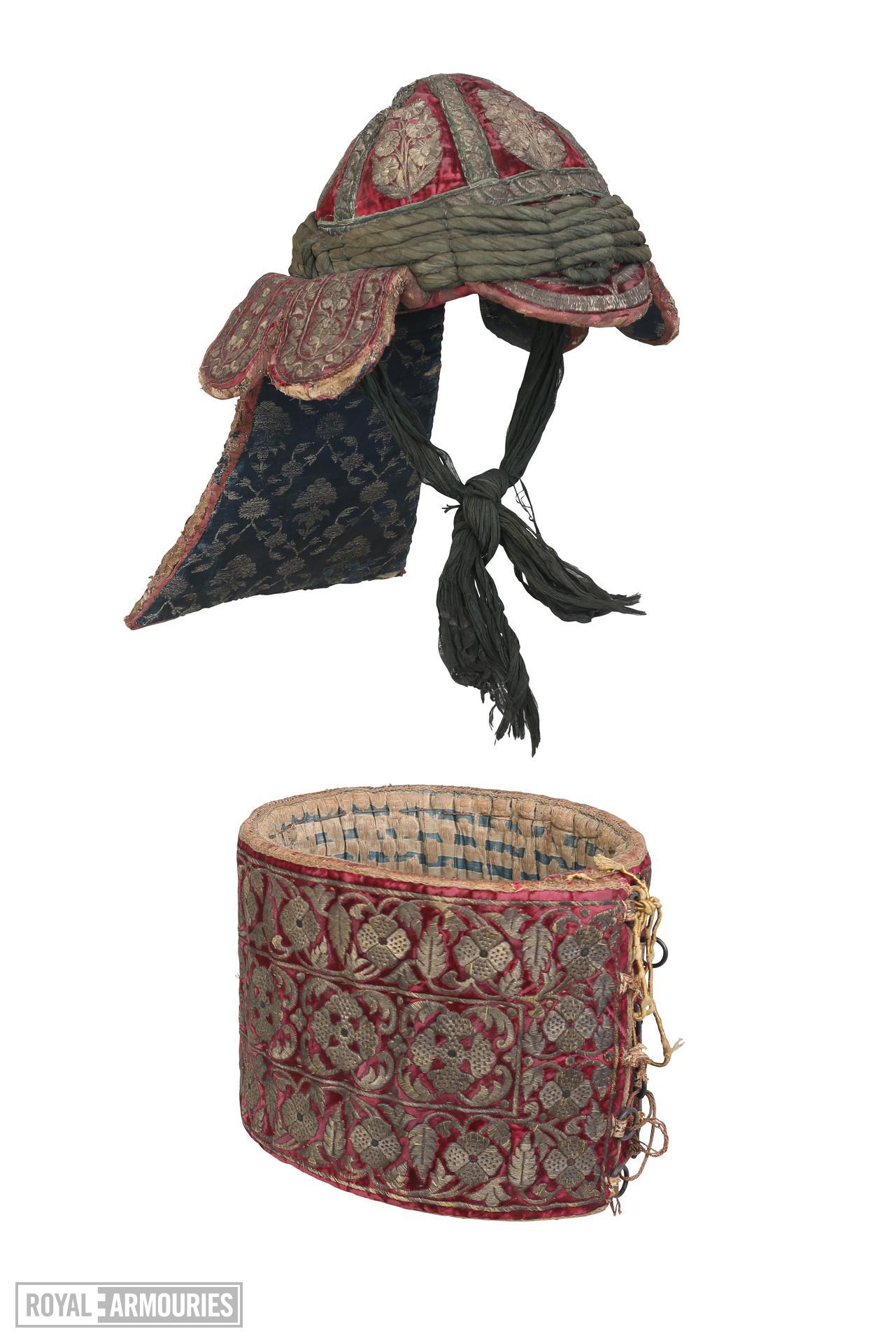 Cuirass and helmet (peti) from the arsenal of Tipu Sultan. XXVIA.139