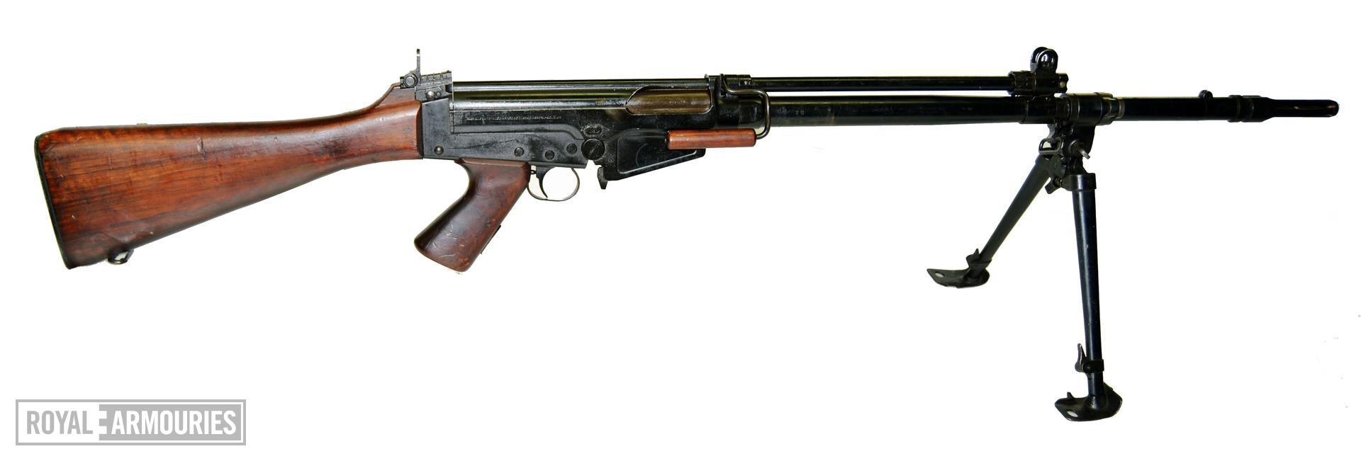 Centrefire automatic rifle FN X8E6 Experimental. Rifle, Self-loading, Experimental, 7.62 mm FN X8E6 Heavy Barre with bipod extended (SN - 28) X.906