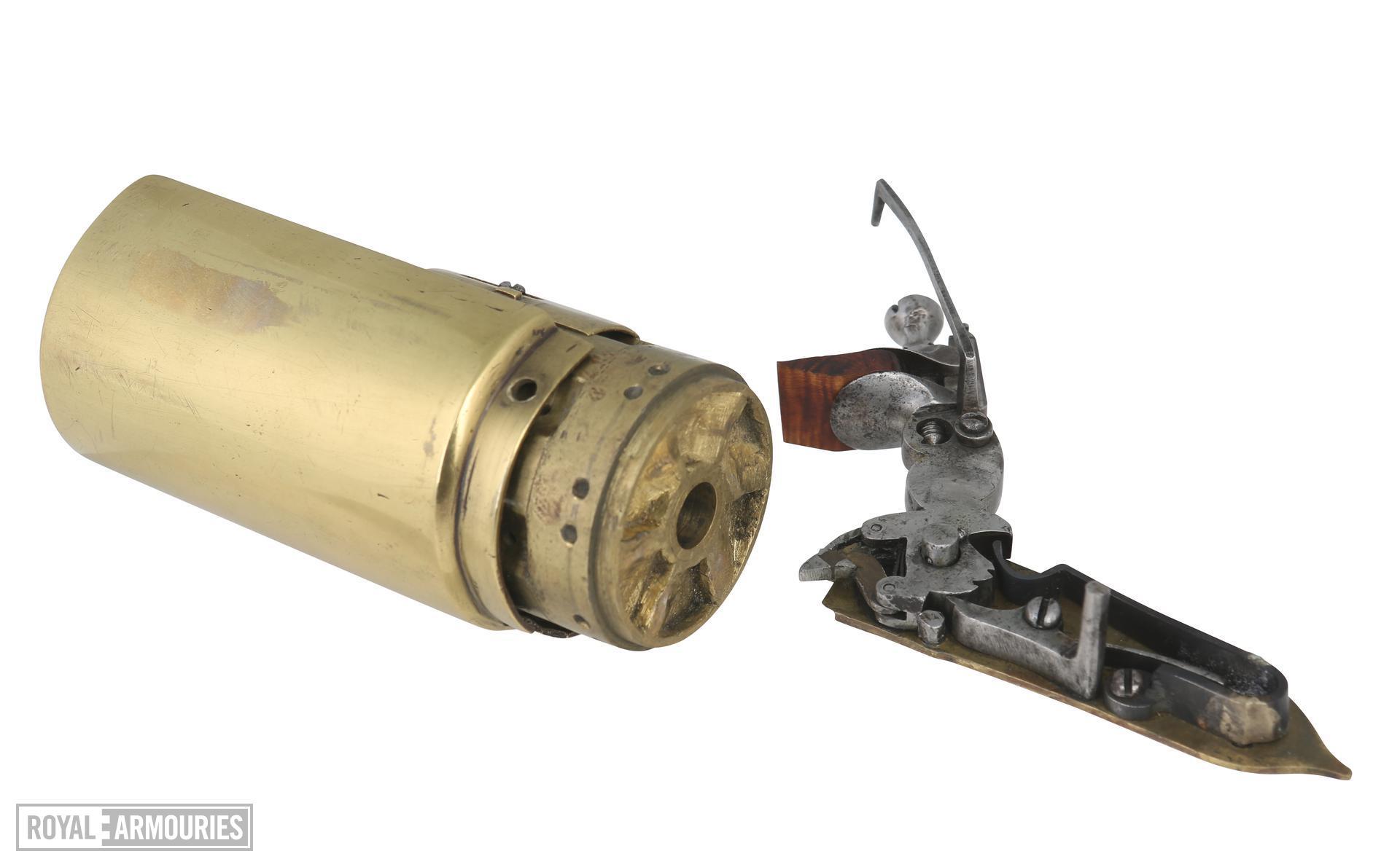 Snaphaunce six-shot revolver possibly by John Daft. XII.1780