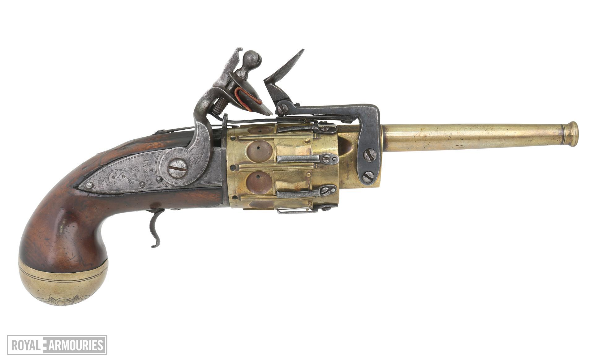 Snaphaunce revolver, Annely pattern, Britain, about 1700. XII.4745