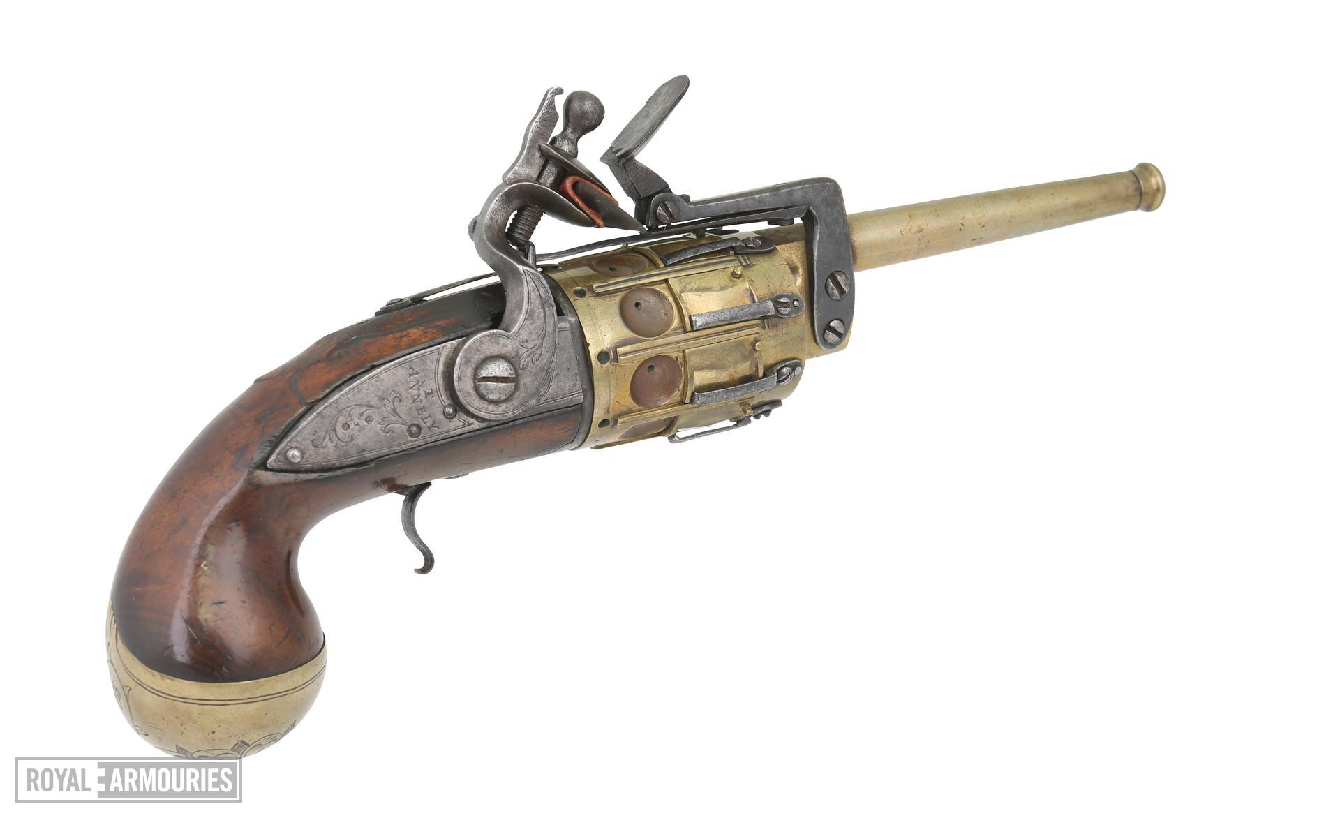 Snaphaunce revolver - Annely pattern