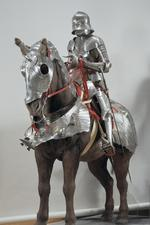Thumbnail image of Gothic armour - Gothic armour Composite armour, made up of sallet (IV.15), bevor (III.1300, to be checked), breastplate (III.69), backplate (III.70), and other pieces.
