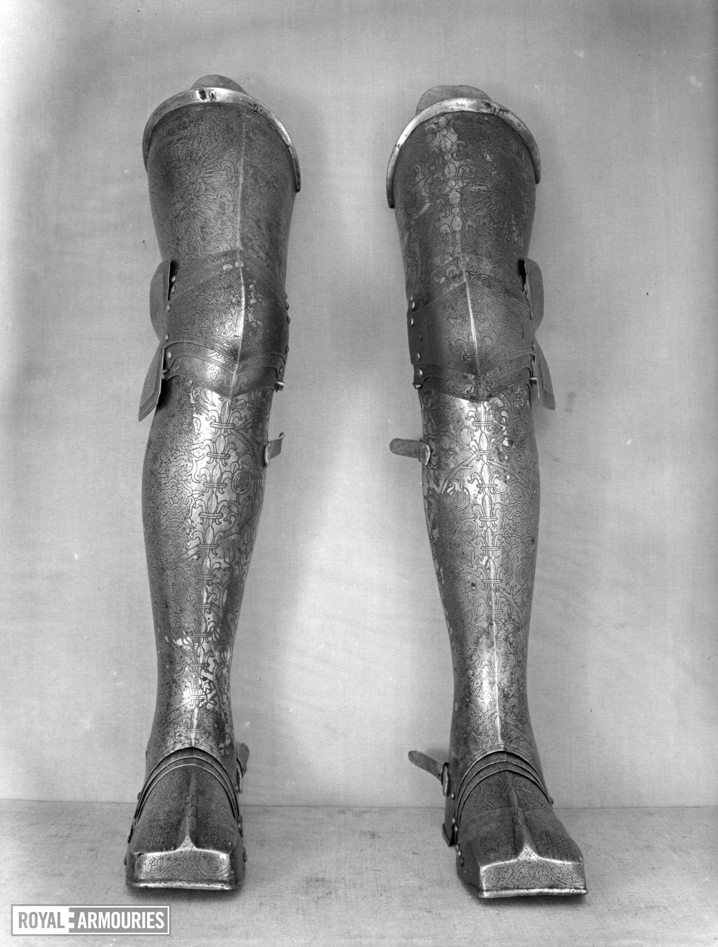 Crupper From the silvered and engraved armour of Henry VIII. By Guille Margot, decorated by Paul van Vrelant.