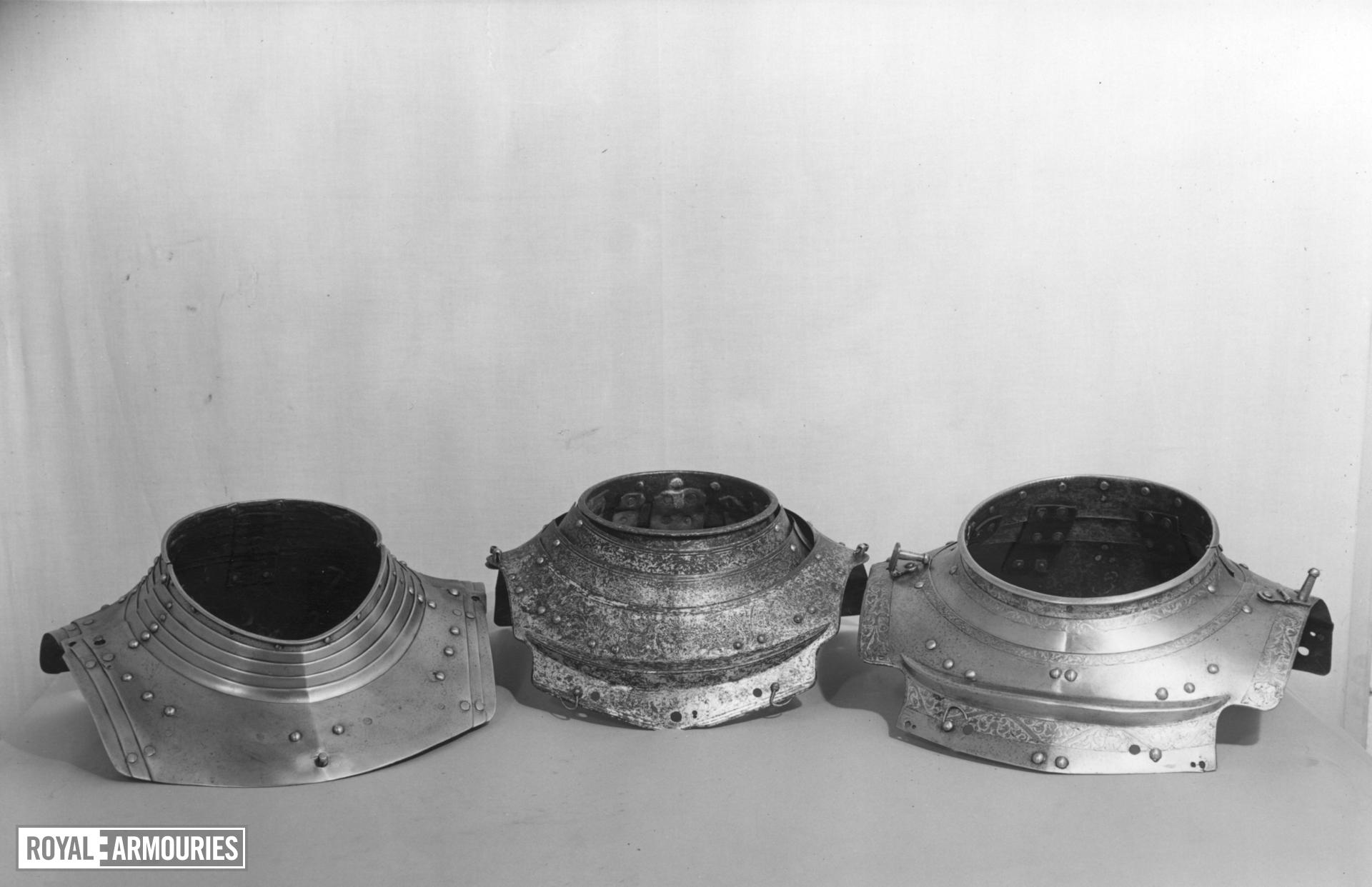 Two gorget plates Two gorget plates from an armour for King Henry VIII