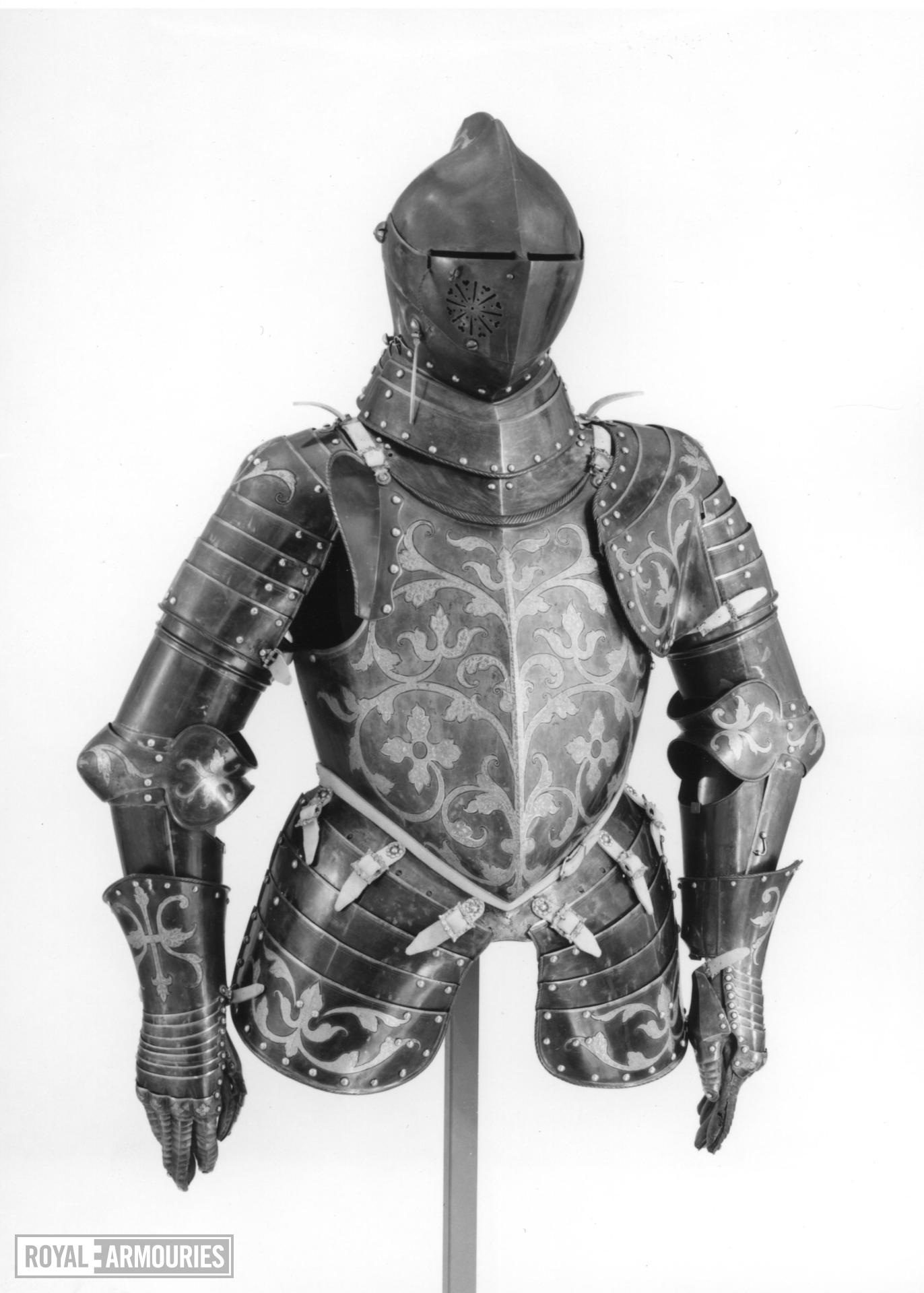 Foot combat armour of Christian I Elector of Saxony, by Anton Peffenhauser
