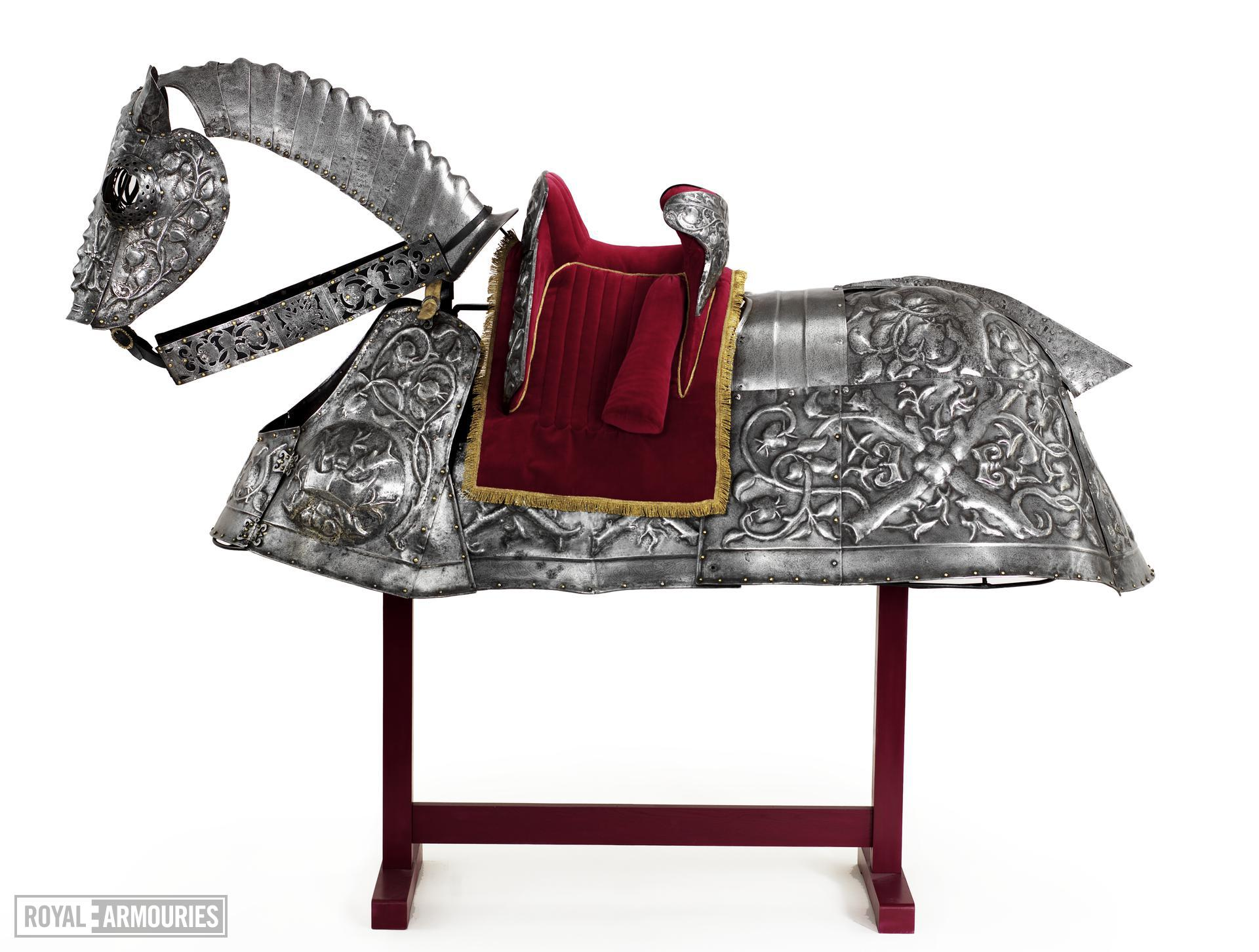 Horse Armour - Burgundian bard Of King Henry VIII, by Guillem Margot, decorated by Paul van Vreland, presented by Maximilian I, known as the Burgundian bard